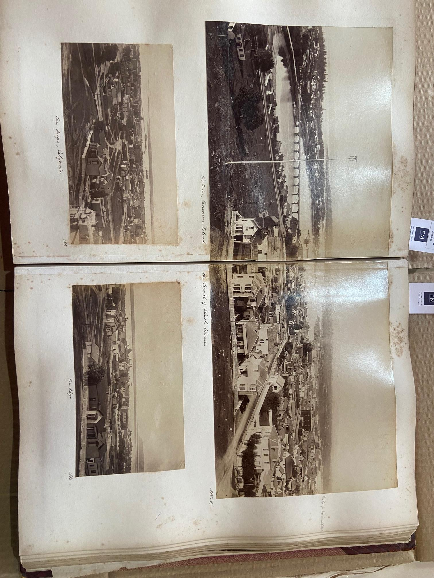 Photographs: Two large folio Albums of Photographs, each c. 1870 - 1890's. One Album contains - Image 16 of 31