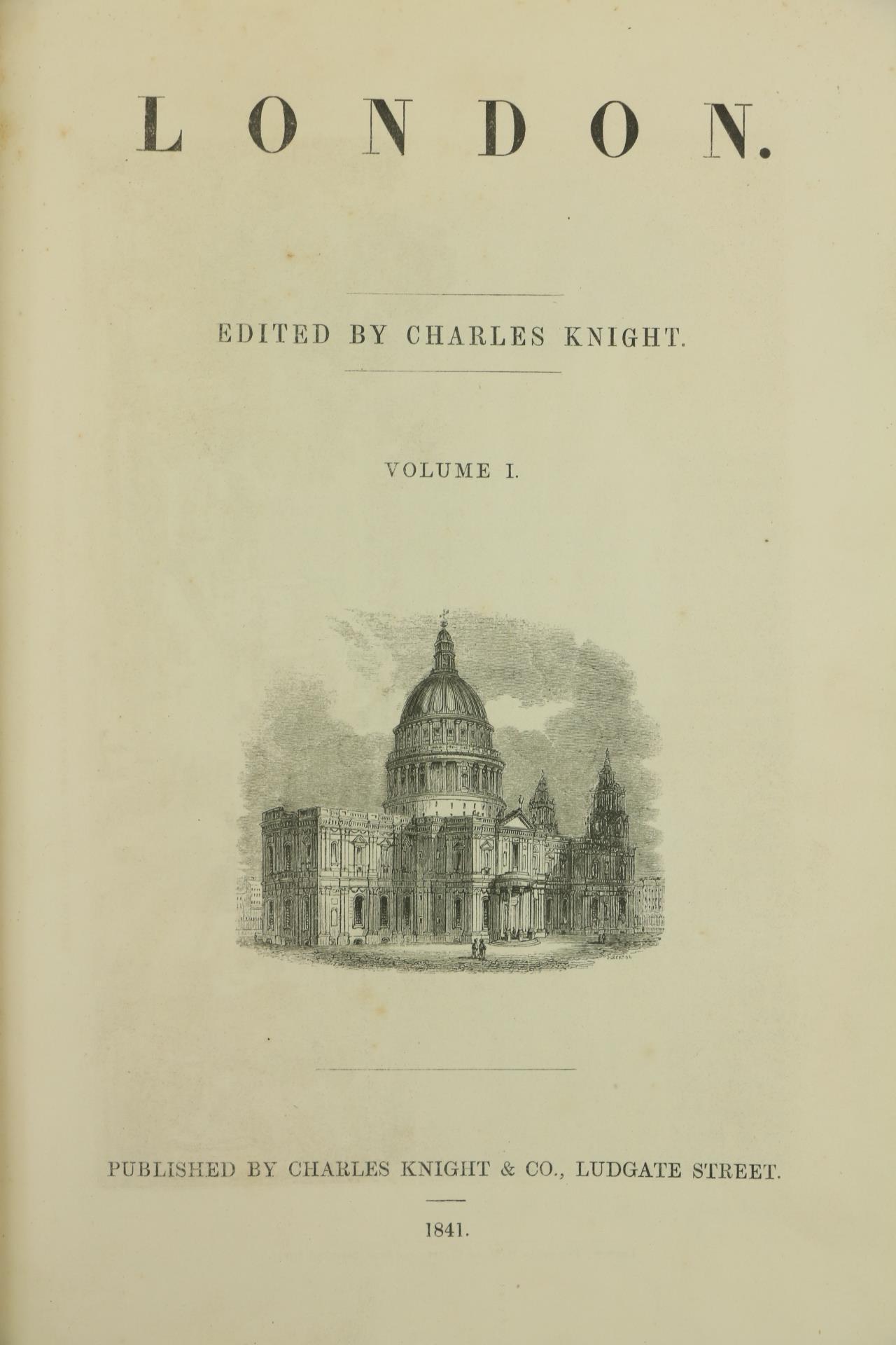 Knight (Chas.)ed.ÿLondon, 6 vols. sm. folio London 1841 - 1844. Illus. thro.-out, cont. hf. calf - Image 2 of 3