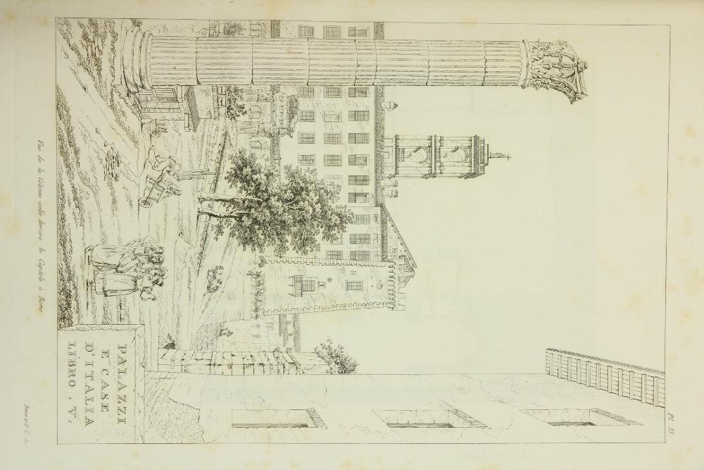 Clochar (P.)ÿPalais, Maisons et Vues D'Italie, Mesures et Dessines. Lg. folio Paris (a La - Image 2 of 3