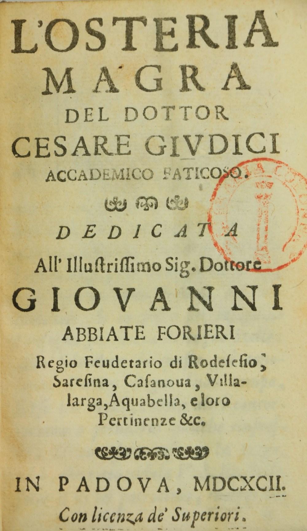 Leti (Gregorio)Via di Sisto V. Pontefice Romano, Scritta dal Signor Geltio Rogeri, All instanza - Image 2 of 3
