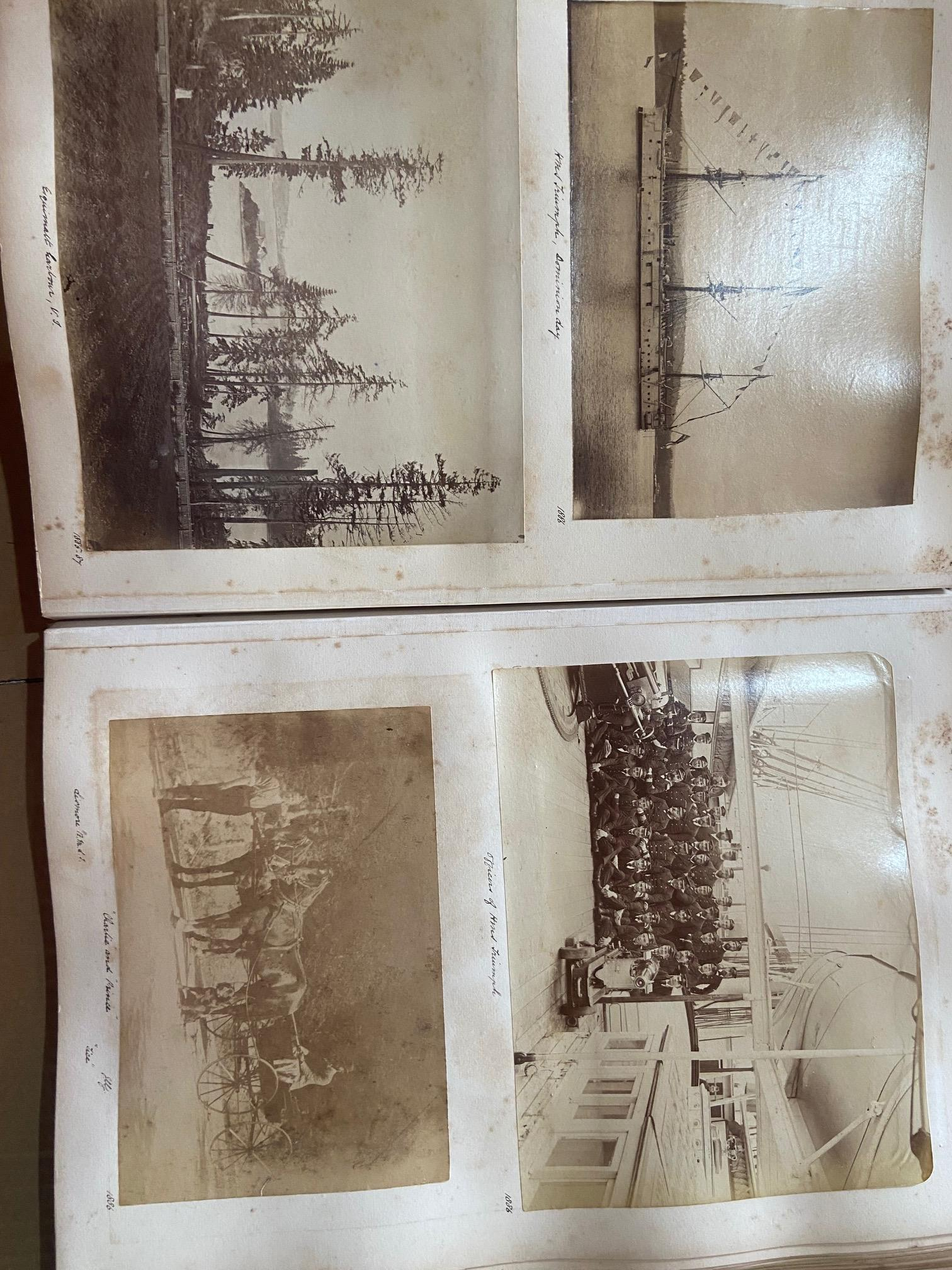 Photographs: Two large folio Albums of Photographs, each c. 1870 - 1890's. One Album contains - Image 15 of 31