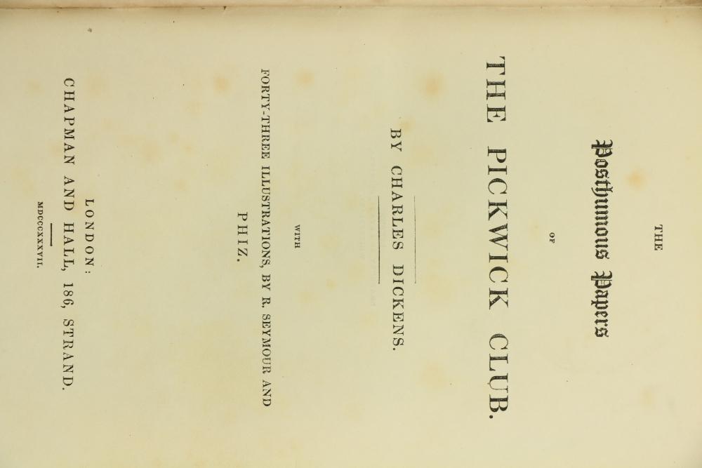 Dickens (Charles)ÿTheÿLife and Adventures of Nicholas Nickleby, 8vo Lond. (Chapman & Hall) 1839. - Image 3 of 4