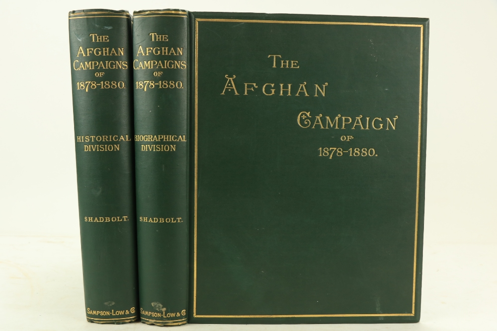 Shadbolt (Sydney H.)The Afghan Campaigns of 1878 - 1880, compiled from Official and Private