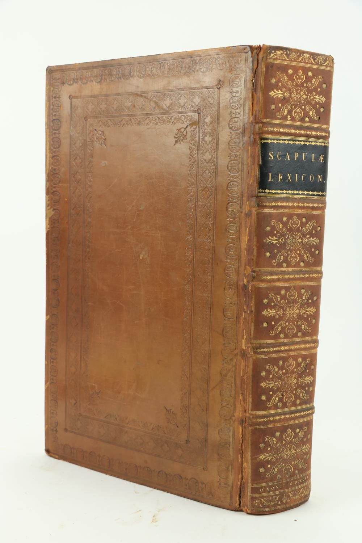 Scapulae (Joannis)ÿLexicon Graeco - Latinum,.... et Jo. Meursii glossarium Contractum... Cum - Image 2 of 2