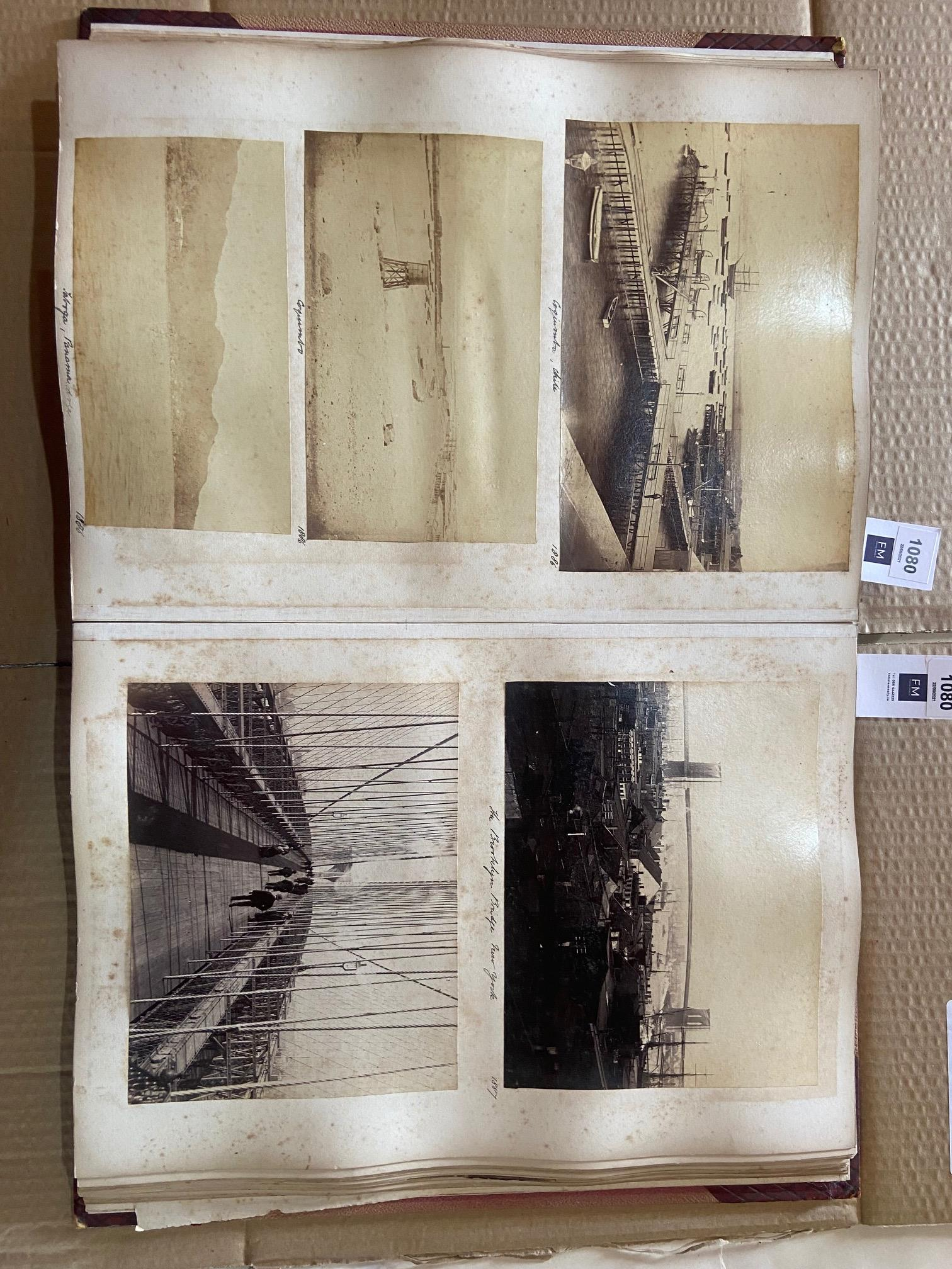 Photographs: Two large folio Albums of Photographs, each c. 1870 - 1890's. One Album contains - Image 6 of 31
