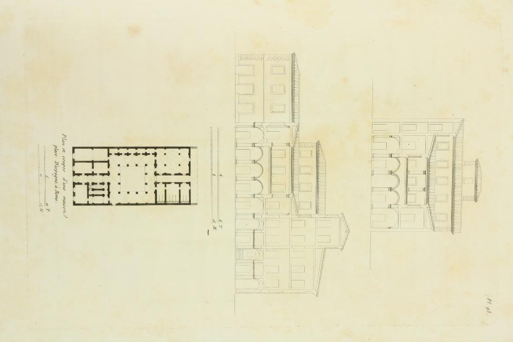 Clochar (P.)ÿPalais, Maisons et Vues D'Italie, Mesures et Dessines. Lg. folio Paris (a La - Image 3 of 3