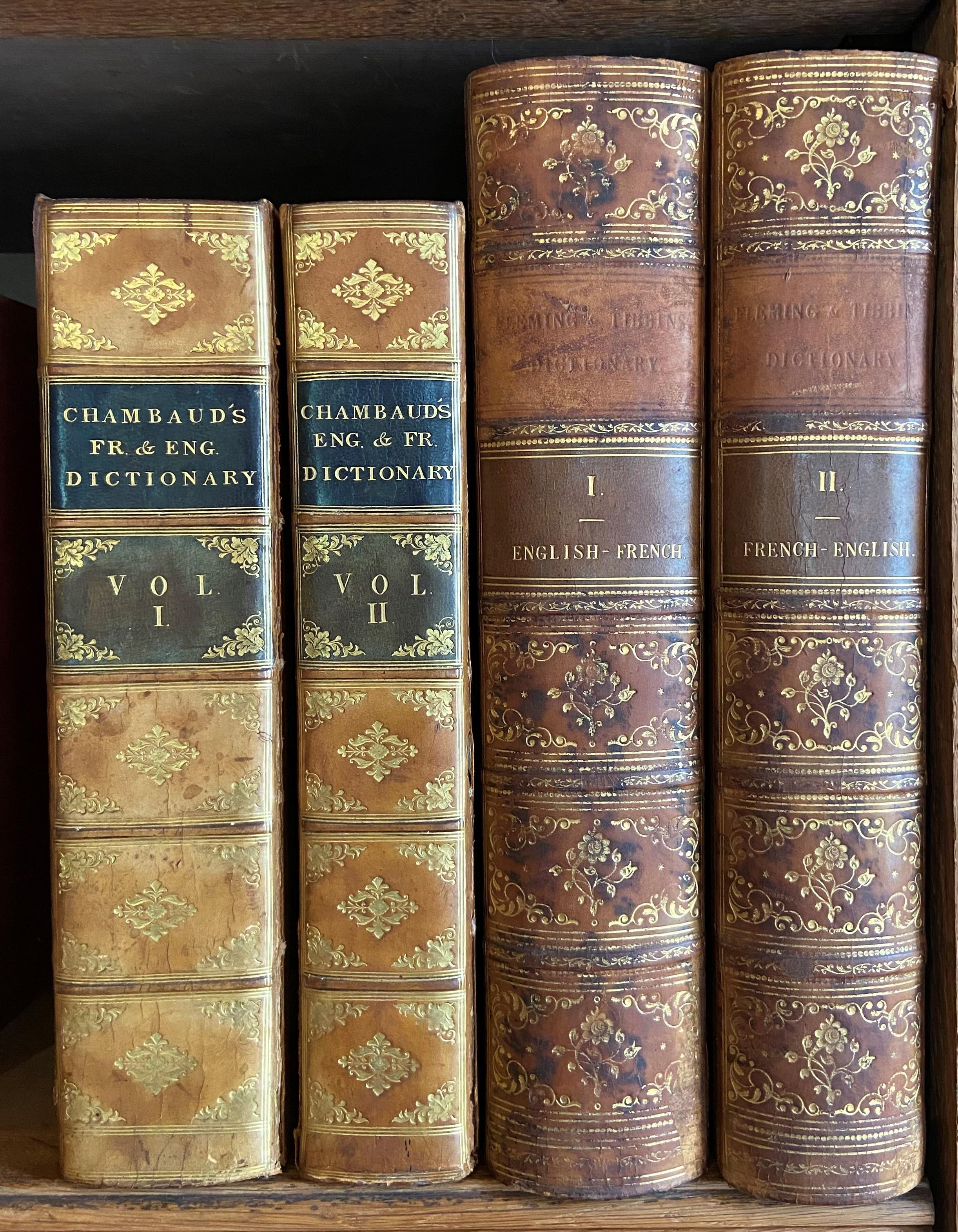 Chambaud (Louis)ÿNouveau Dictionnaire Francois - Anglois & Anglois - Francois, 2 vols. lg. 4to Lond. - Image 2 of 2