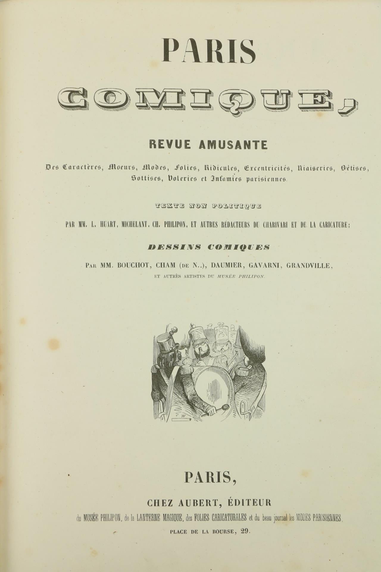 With Attractive Coloured Platesÿ Periodical:ÿÿParis Comique, Revue Amusante, lg. 4to Paris n.d. - Image 2 of 2