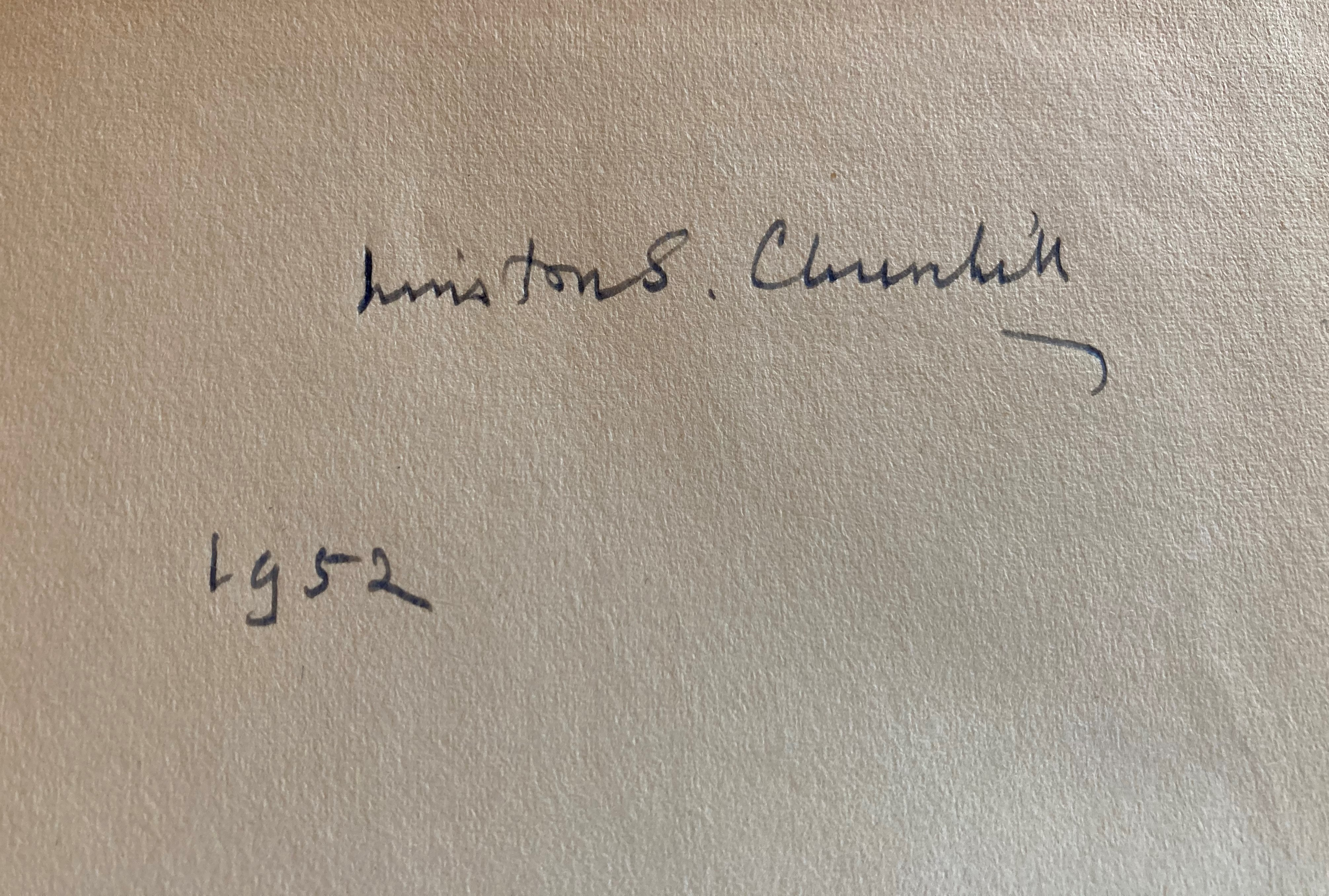 Signed by the Authorÿ Churchill (Winston S.)ÿTheir Finest Hour, Second World War, Vol. II only, - Image 4 of 22