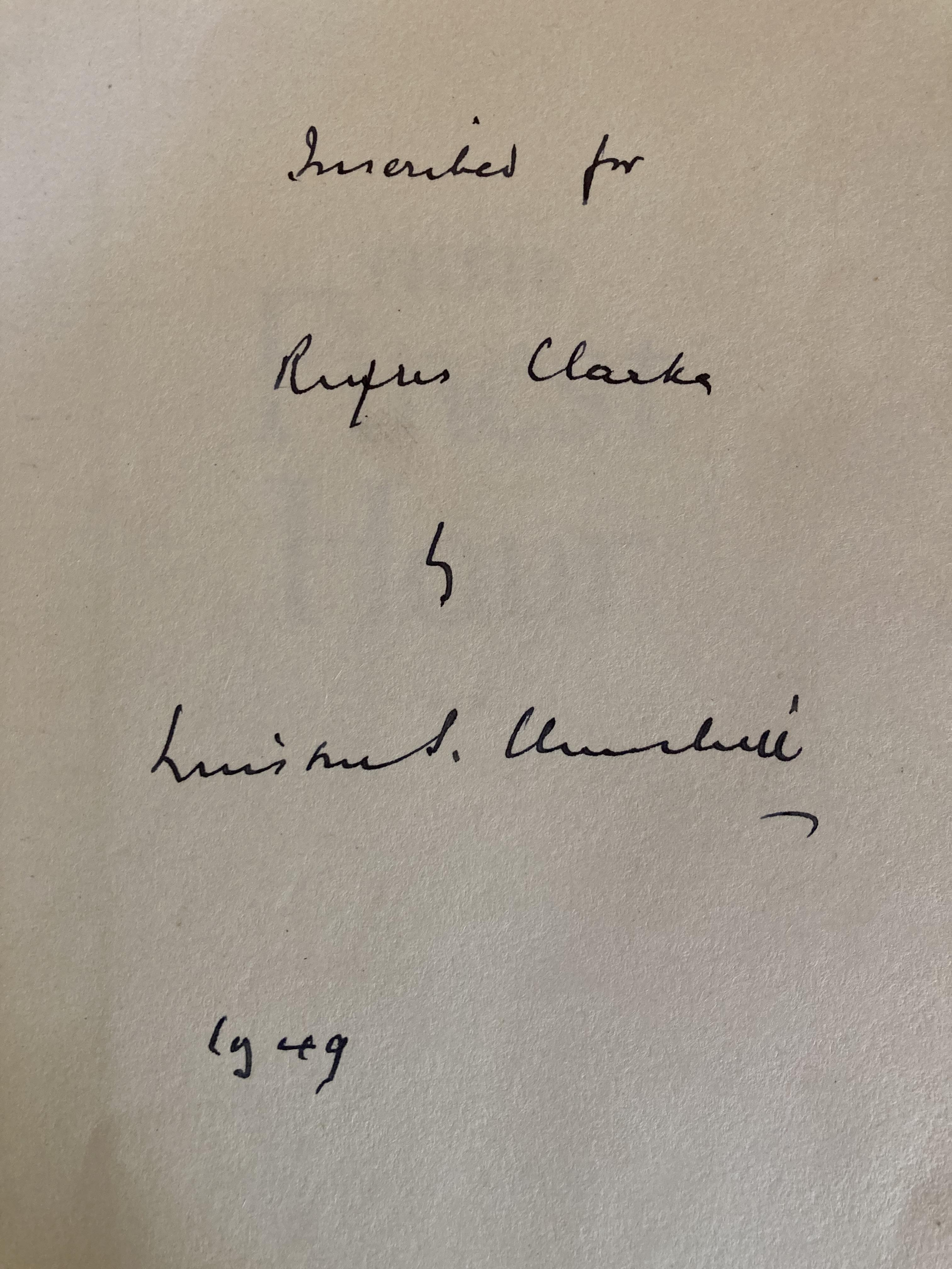 Signed by the Authorÿ Churchill (Winston S.)ÿTheir Finest Hour, Second World War, Vol. II only,