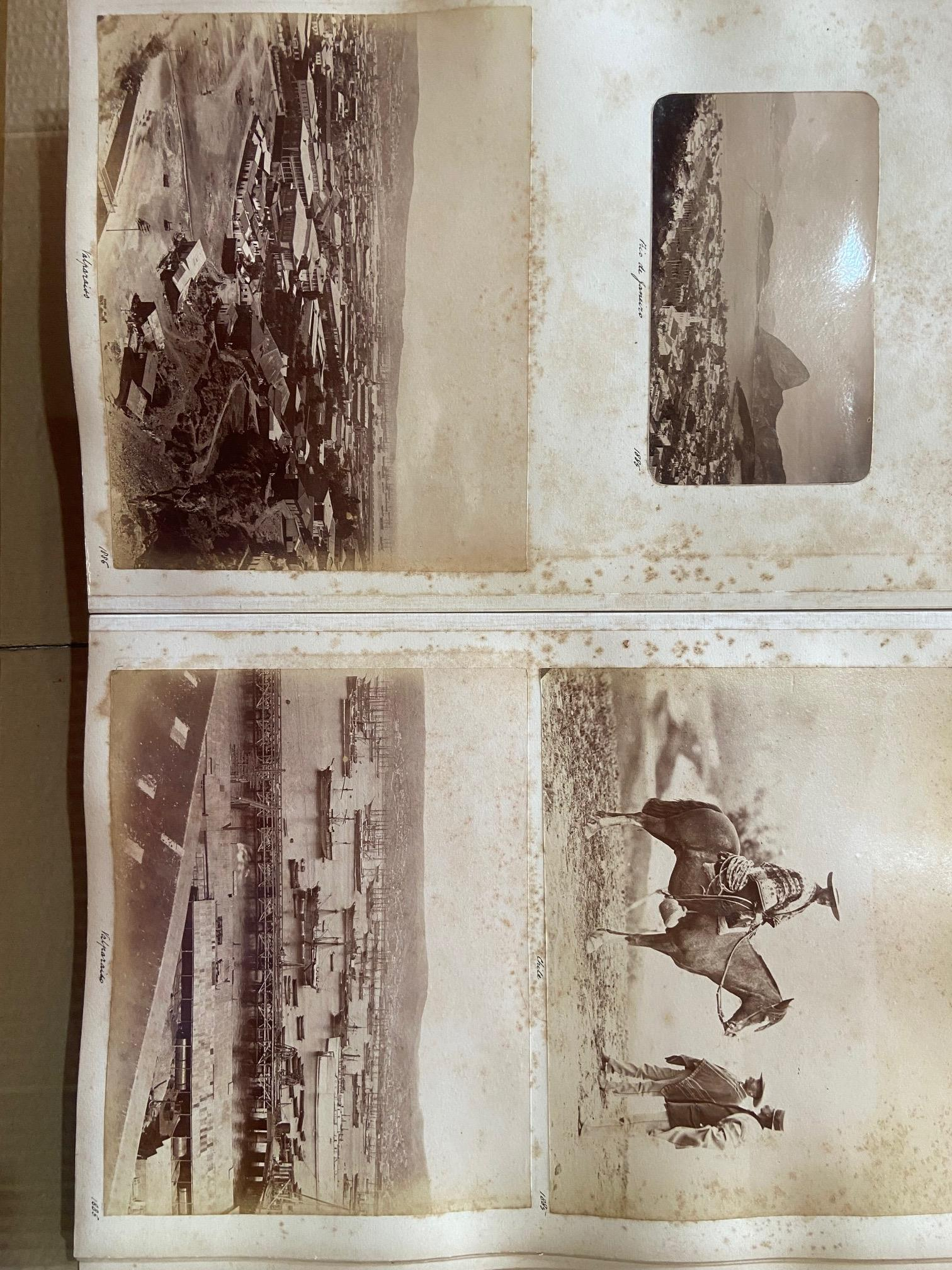 Photographs: Two large folio Albums of Photographs, each c. 1870 - 1890's. One Album contains - Image 23 of 31