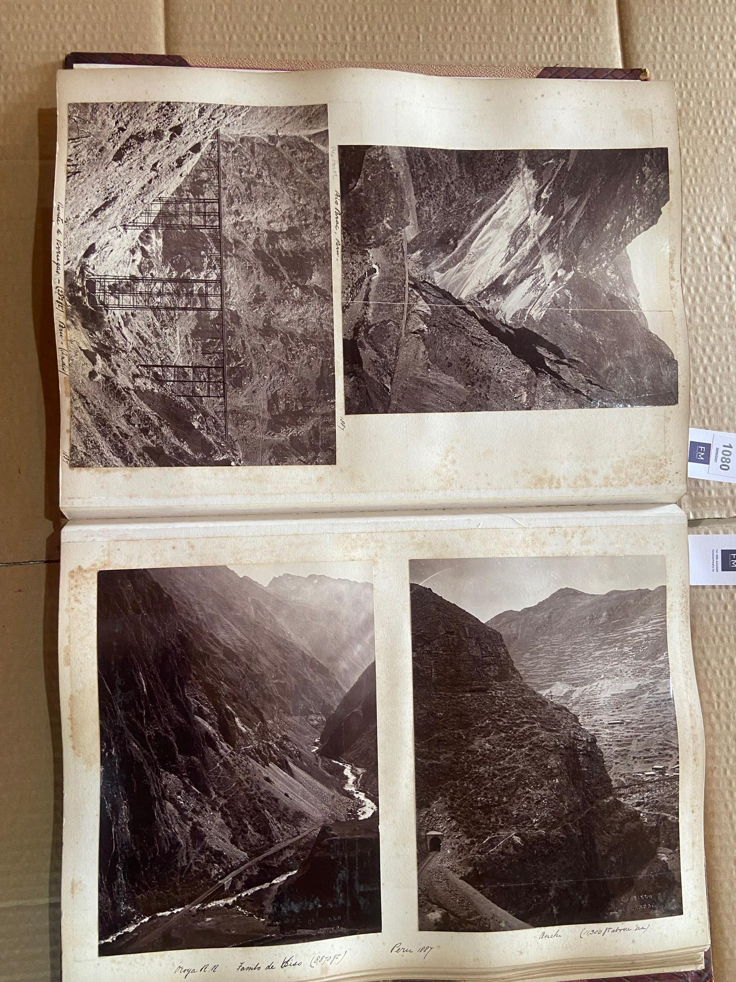 Photographs: Two large folio Albums of Photographs, each c. 1870 - 1890's. One Album contains - Image 7 of 31