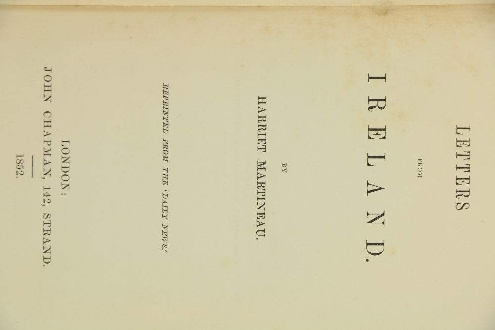 Reports in the Aftermath of The Great Irish Famineÿ Martineau (Harriet)ÿLetters from Ireland, roy - Image 3 of 3