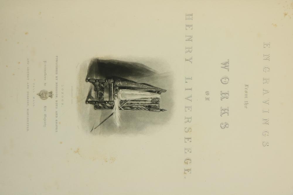 Liverseege -Engravings form the Works of Henry Liverseege, lg. folio L. (Hodgson, Boys & Graves)