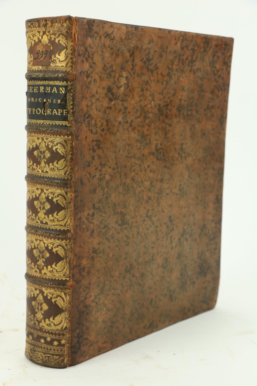 Bibliogrpahy: Meerman (Gerald)Origines Typographicae, 2 vols. in One, 4to The Hague, Paris & Lond. - Image 3 of 3