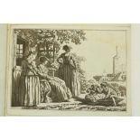 Italian Plates: Sablet (J.)An Album of 9 plates, Roman Scenes, engraved by C. Dueros, oblong