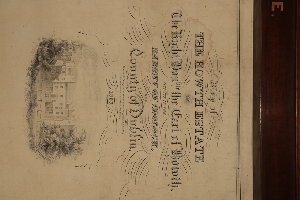 Irish Map: Map of the Howth Estate of the Right Honorable the Earl of Howth, situate in the - Image 2 of 4