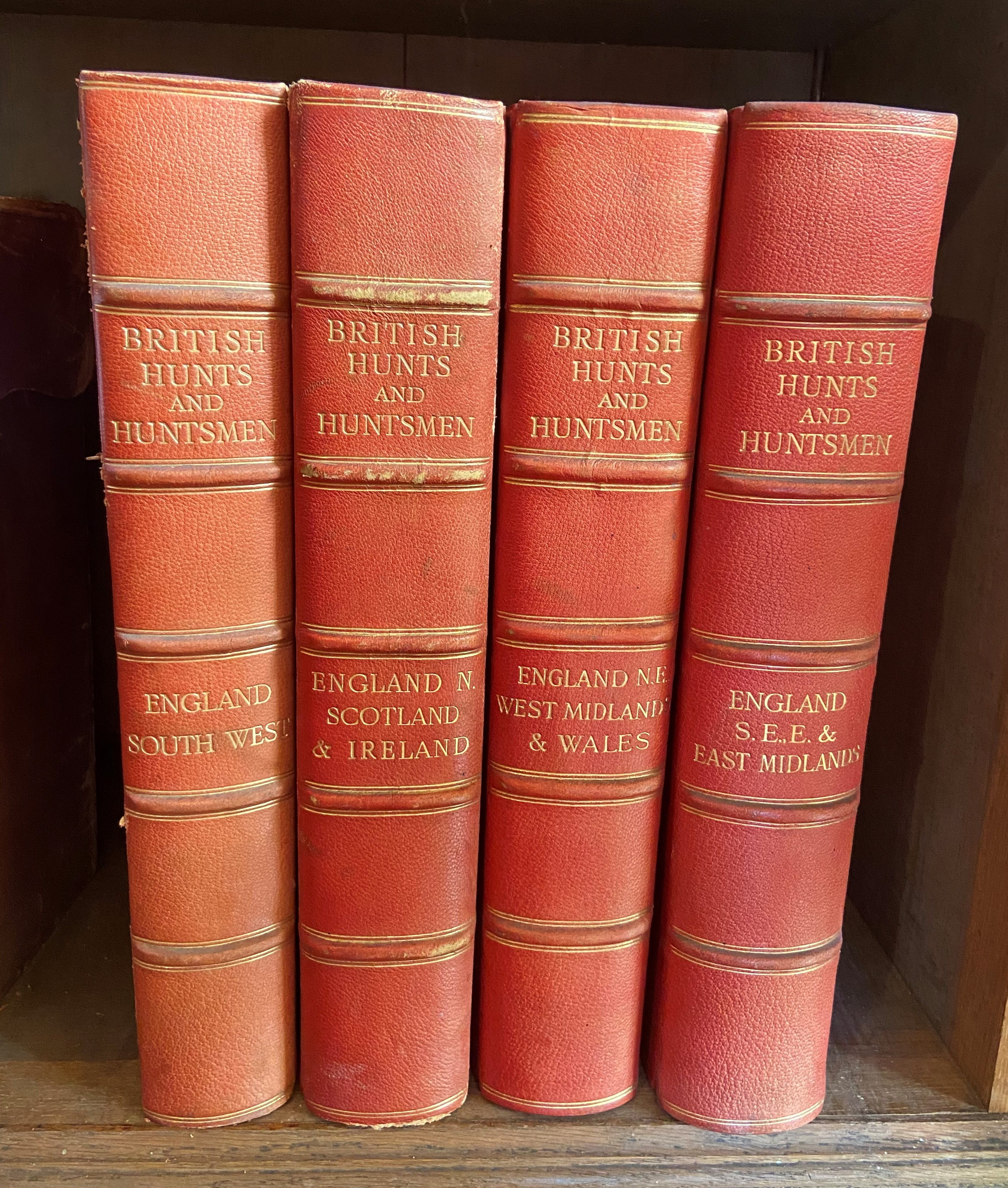 Sporting:ÿÿBritish Hunts and Huntsmen, in Four Volumes, 4 vols. lg. thick folio L. (Biographical - Image 2 of 2