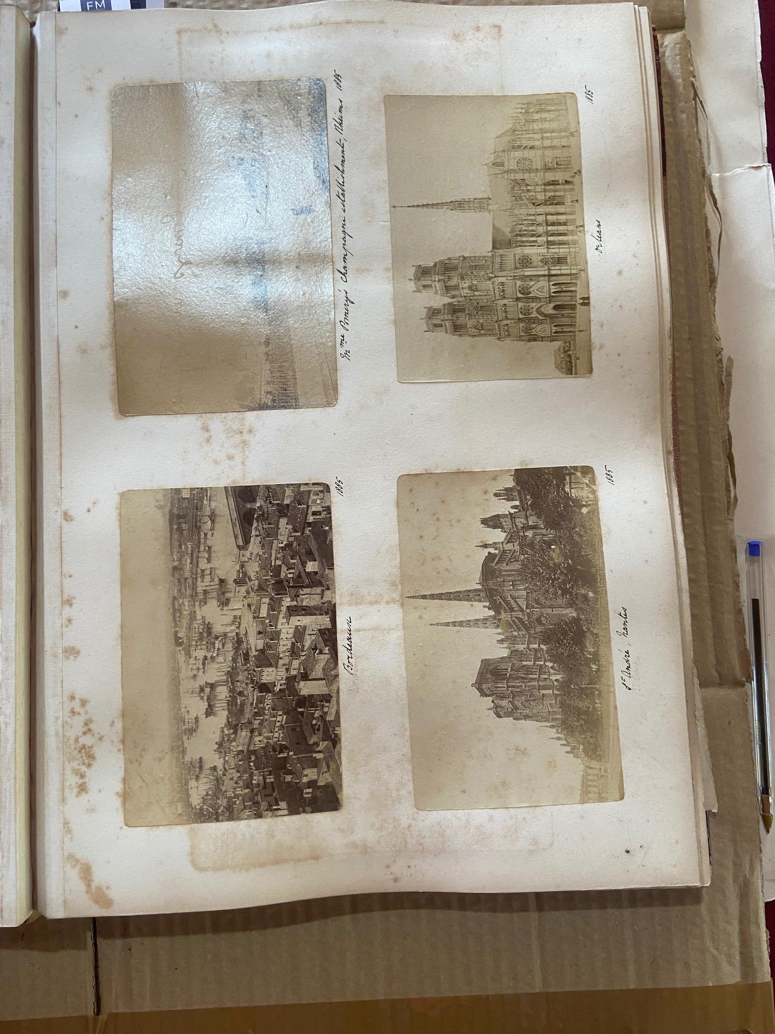 Photographs: Two large folio Albums of Photographs, each c. 1870 - 1890's. One Album contains - Image 24 of 31