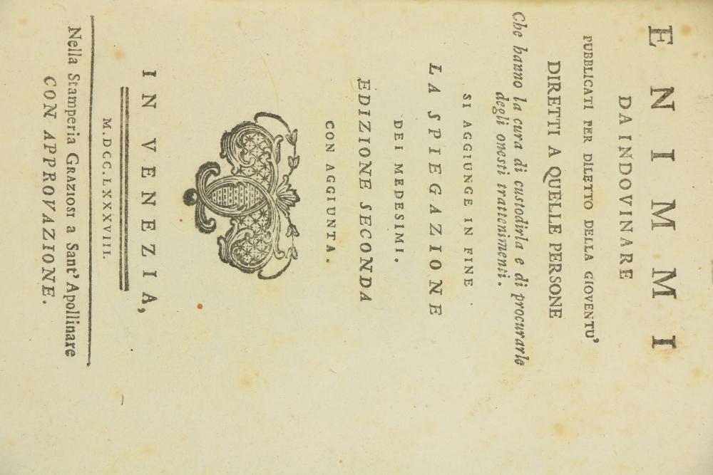 Volpi (Gio. Antonio)Rime del Signor Gio Antonio Volpi, 8vo Padova (Giuseppe Comino) 1741. Second - Image 2 of 2