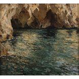 """CARLO PERINDANI (1899/1986) """"Grotta della Certosa"""""""