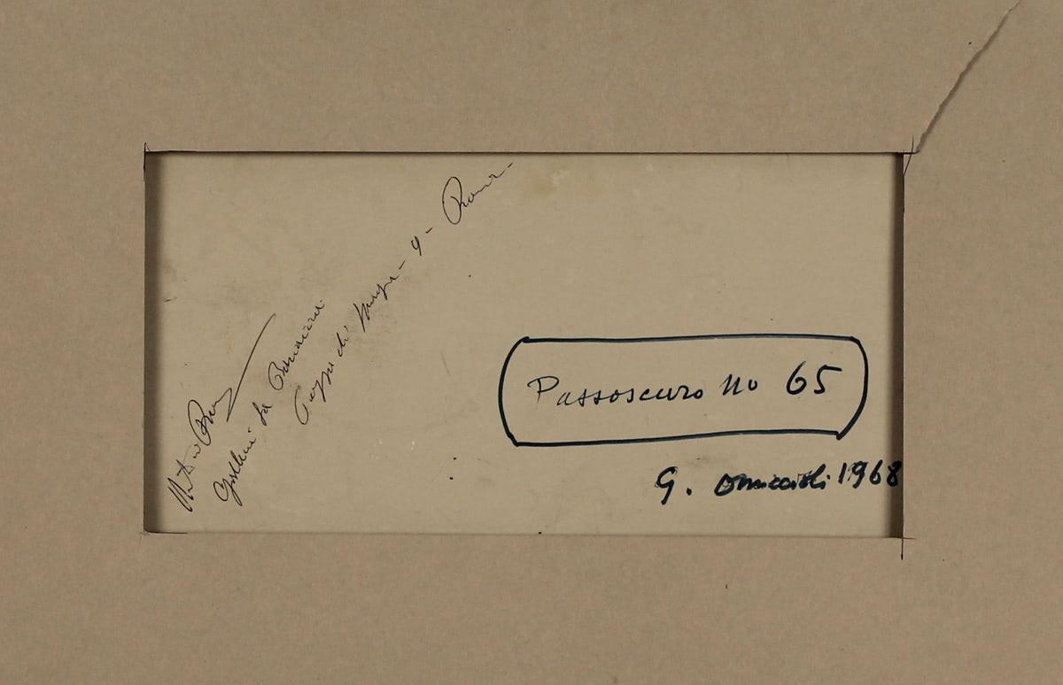 """GIOVANNI OMICCIOLI (1901/1975) """"Passoscuro n°65"""" - Image 2 of 2"""