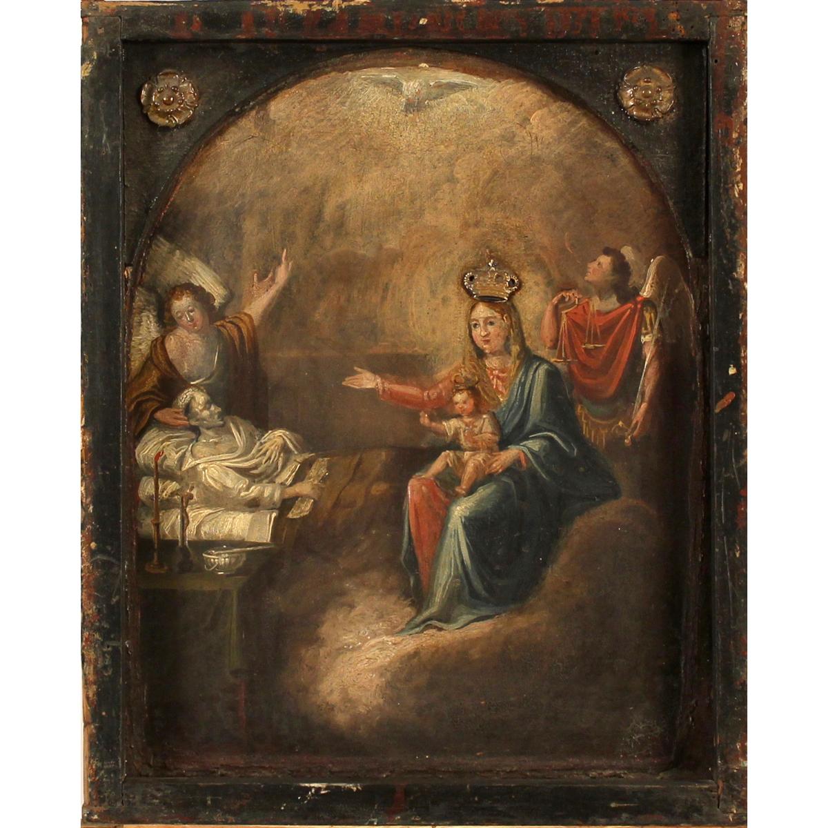 """SCUOLA SICILIANA SECOLO XVIII """"Scena Sacra""""-SICILIAN SCHOOL 18th CENTURY """"Sacred Scene"""""""