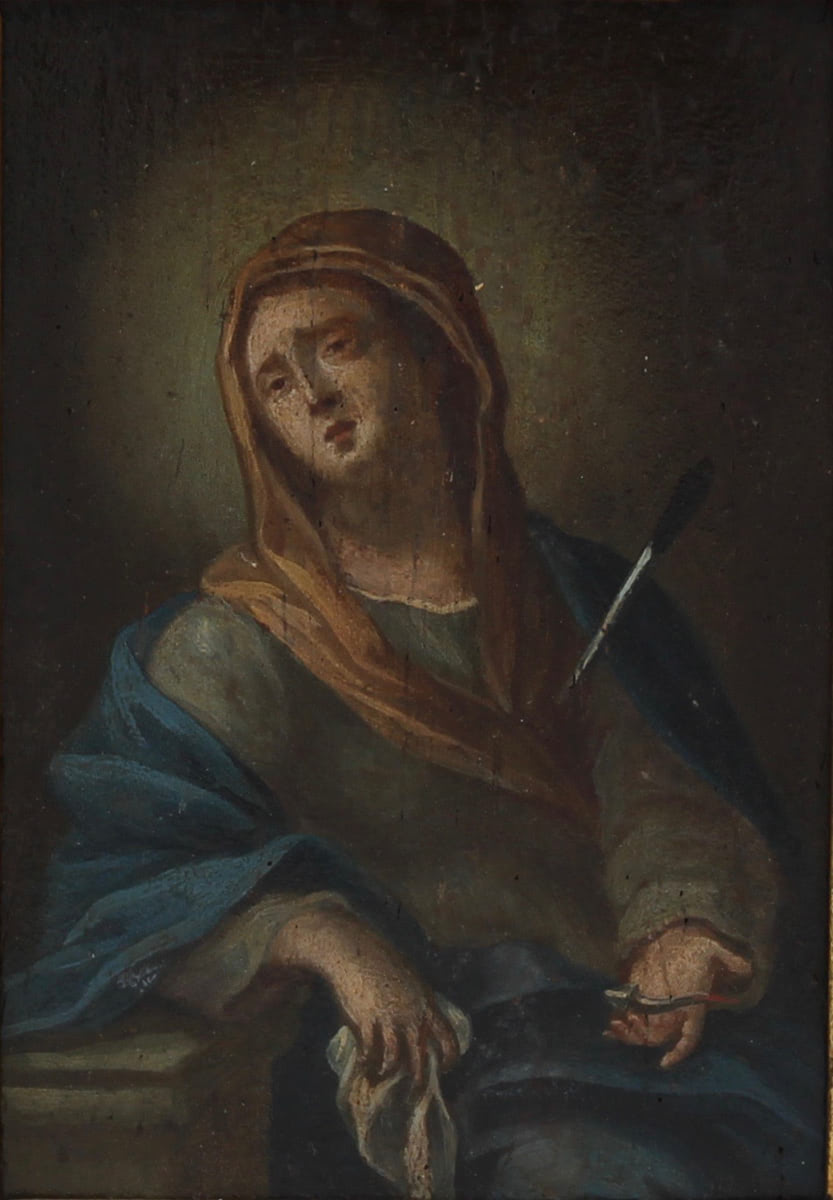 """SCUOLA SICILIANA DELLA FINE DEL SECOLO XVIII """"La Madonna addolorata"""" - SICILIAN SCHOOL OF THE END OF"""