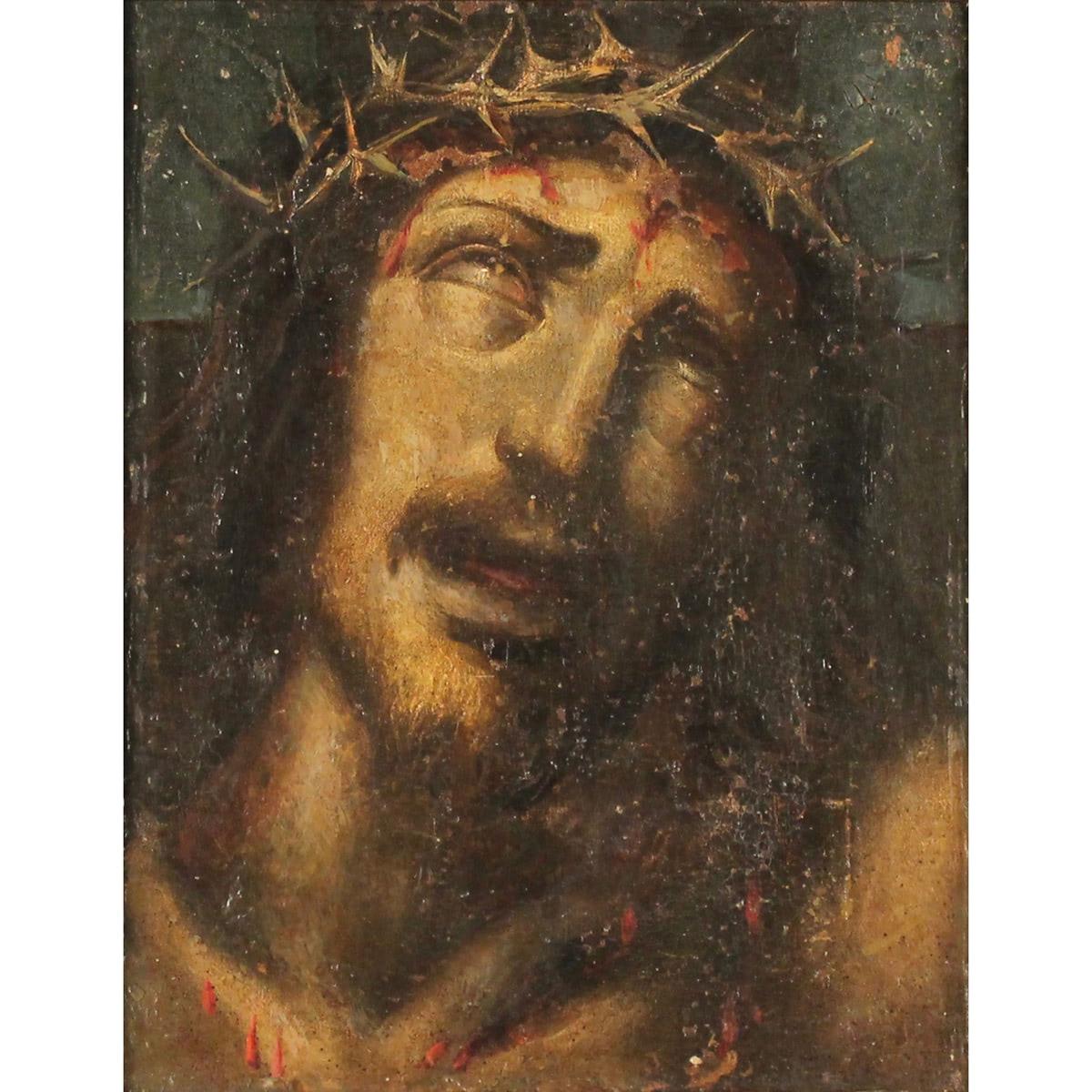 """SCUOLA SICILIANA DEL SECOLO XIX """"Figura di Cristo""""-SICILIAN SCHOOL OF THE XIX CENTURY """"Figure of Chr"""