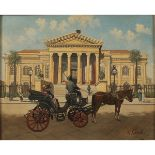 VEDUTA DEL TEATRO MASSIMO CON CARROZZE-VIEW OF THE MASSIMO THEATER WITH CARRIAGES