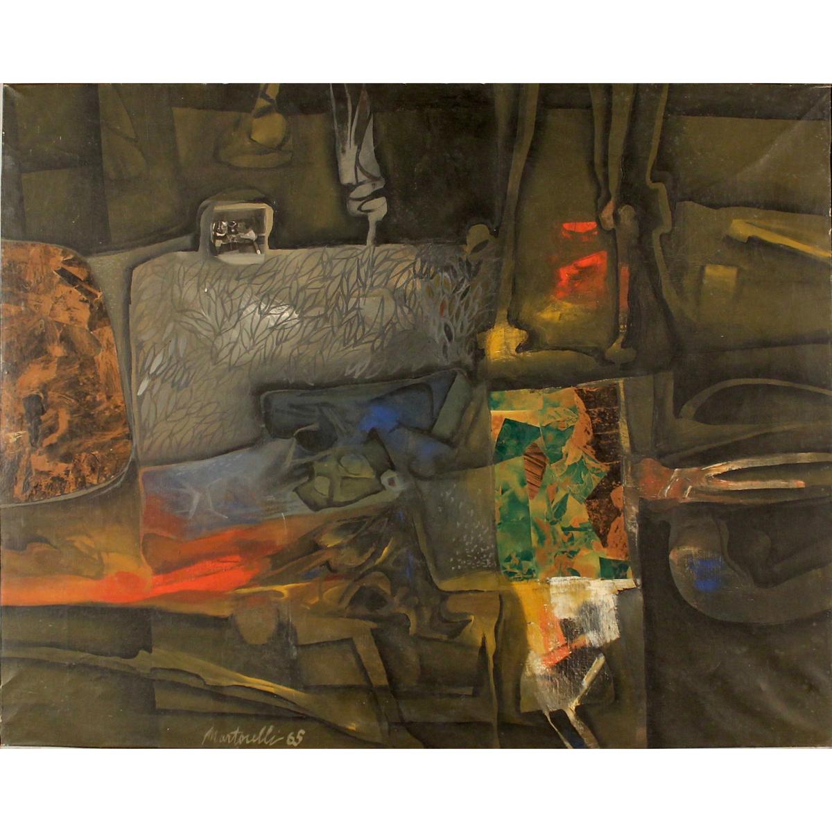 """GIGI MARTORELLI (1936/2015) """"Composizione"""" - """"Composition"""""""