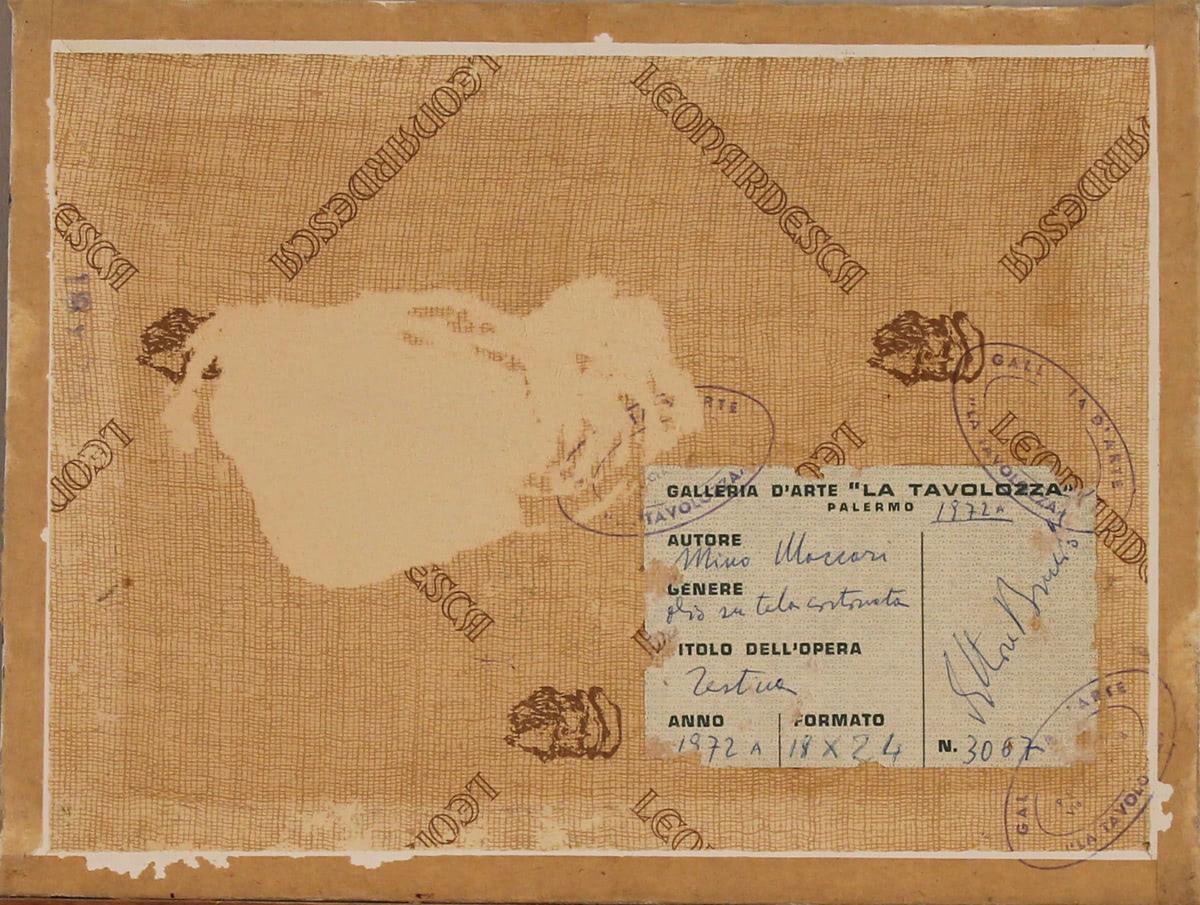 "MINO MACCARI (1898/1989) ""Testina"" - Image 2 of 2"
