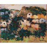 """PIPPO BONANNO (1923/2017) """"Tetti di paese"""" - """"Town roofs"""""""