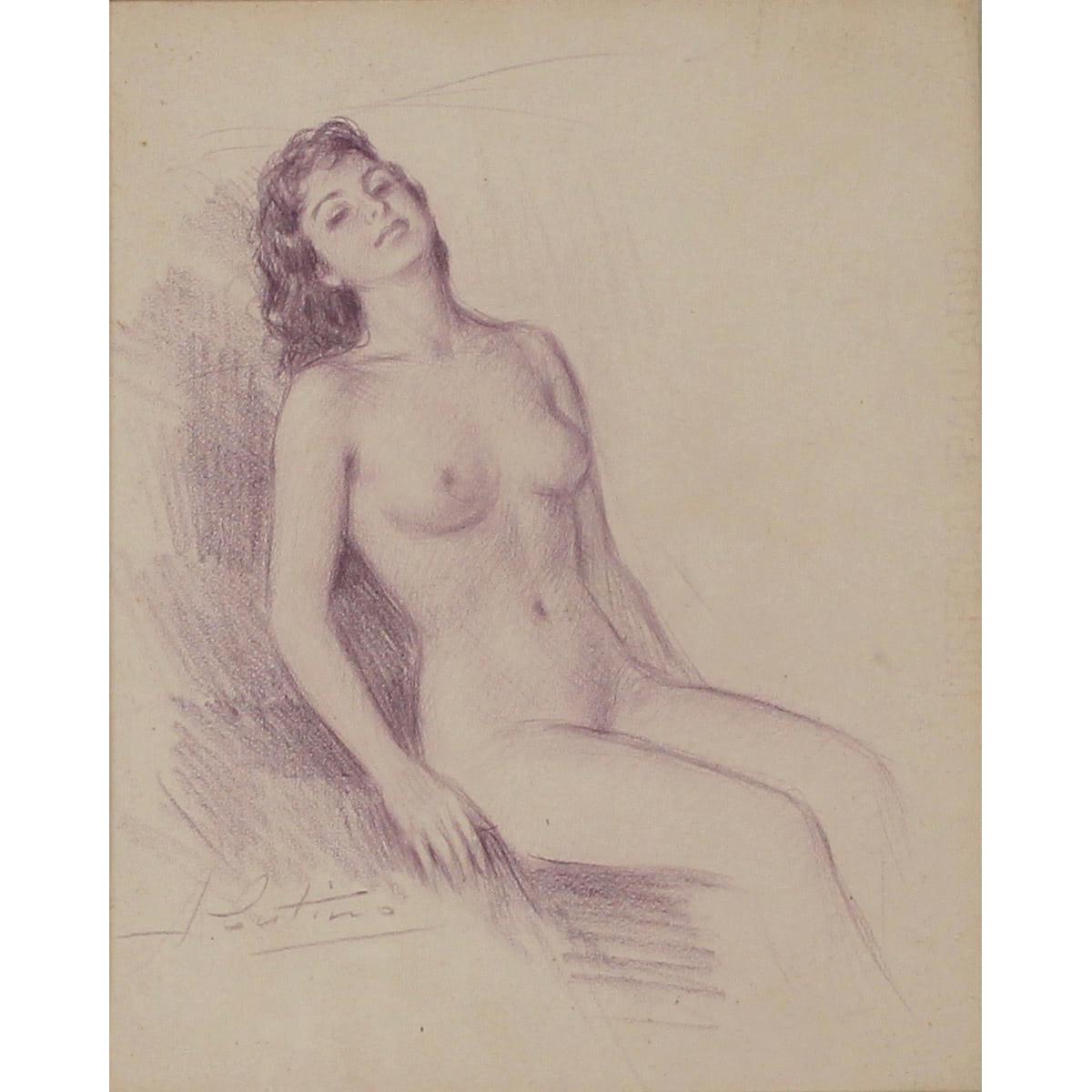 """ANTONIO CUTINO (1905/1984) """"Nudo di donna""""-""""Nude of a woman"""""""