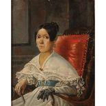 """SALVATORE LO FORTE (1809/1885) """"Ritratto di Maria Giacinta Castiglione"""""""