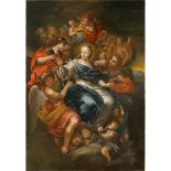 """SCUOLA ITALIANA DEL SECOLO XVIII """"La Madonna in trionfo"""" - ITALIAN SCHOOL OF THE XVIII CENTURY """"The"""