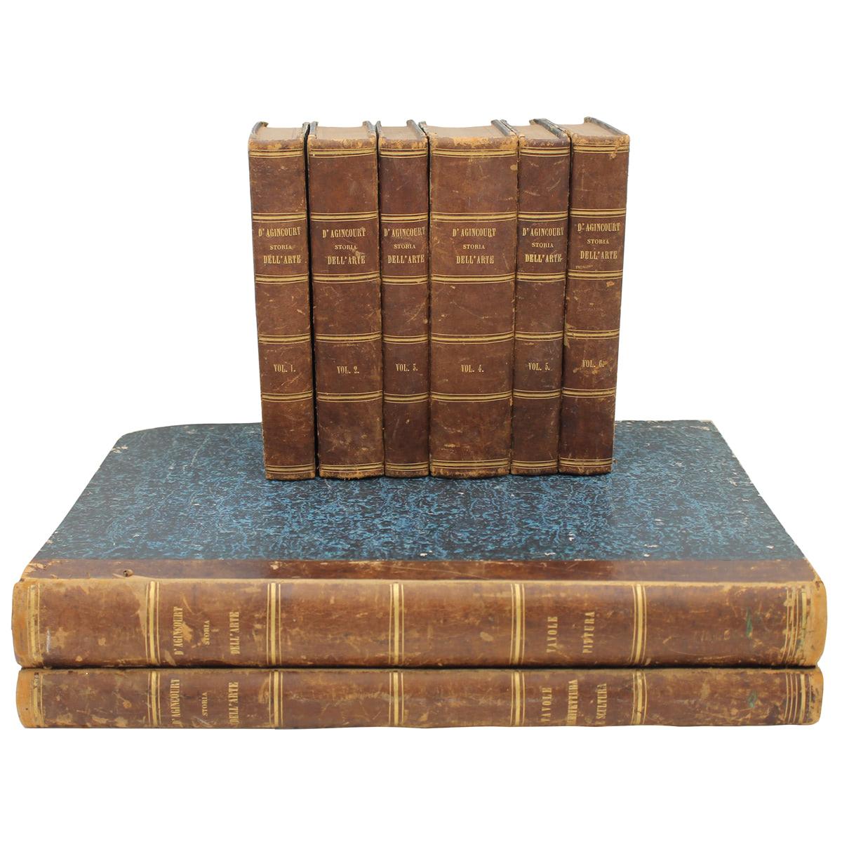 """""""STORIA DELL'ARTE DIMOSTRATA CON I MONUMENTI """" di G.B.L.G. SEROUX D'AGINCOURT-""""HISTORY OF ART DEMONS"""
