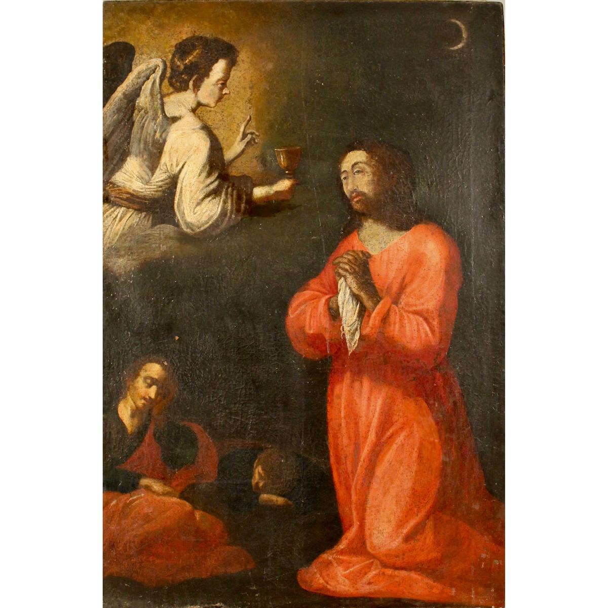 """MAESTRO SPAGNOLO DEL SECOLO XVII """"Gesù nell'orto degli ulivi-SPANISH MASTER OF THE XVII CENTURY """"Jes"""