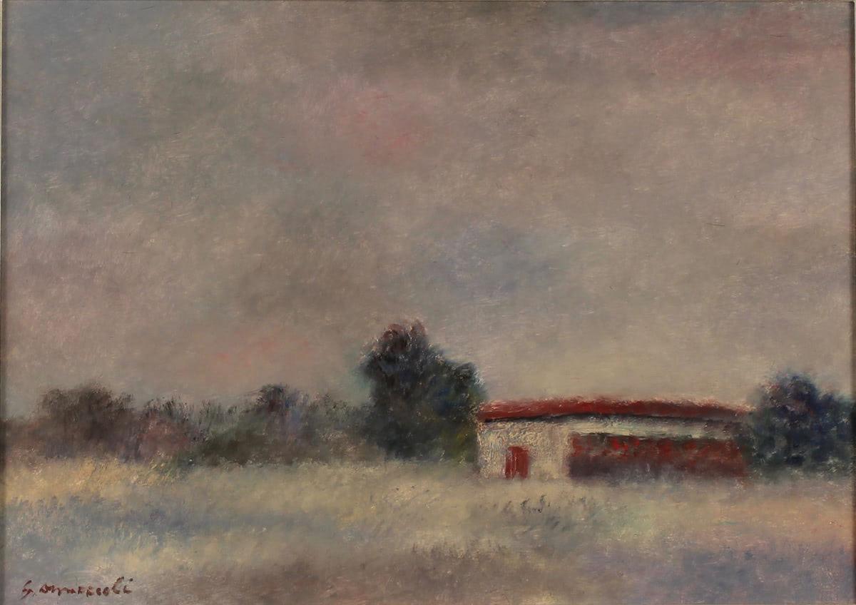 """GIOVANNI OMICCIOLI (1901/1975) """"Passoscuro n°65"""""""