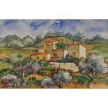 """GIANBECCHINA (1909/2001) """"Paesaggio con masseria"""" - """"Landscape with cottage"""""""
