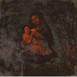 """SCUOLA SICILIANA DEL SECOLO XVIII """"La Madonna col Bambino""""-SICILIAN SCHOOL OF THE XVIII CENTURY """"The"""