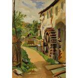 """ALFONSO AMORELLI (1898/1969) """"Scorcio di mulino""""-""""Glimpse of mill"""""""