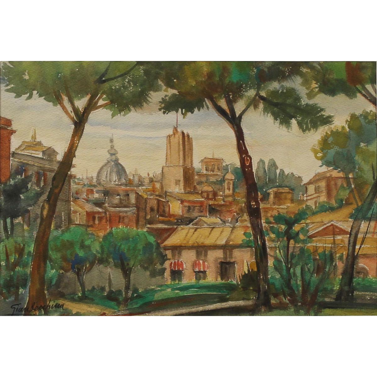 """GIANBECCHINA (1909/2001) """"Scorcio di città"""" - """"Glimpse of the city"""""""