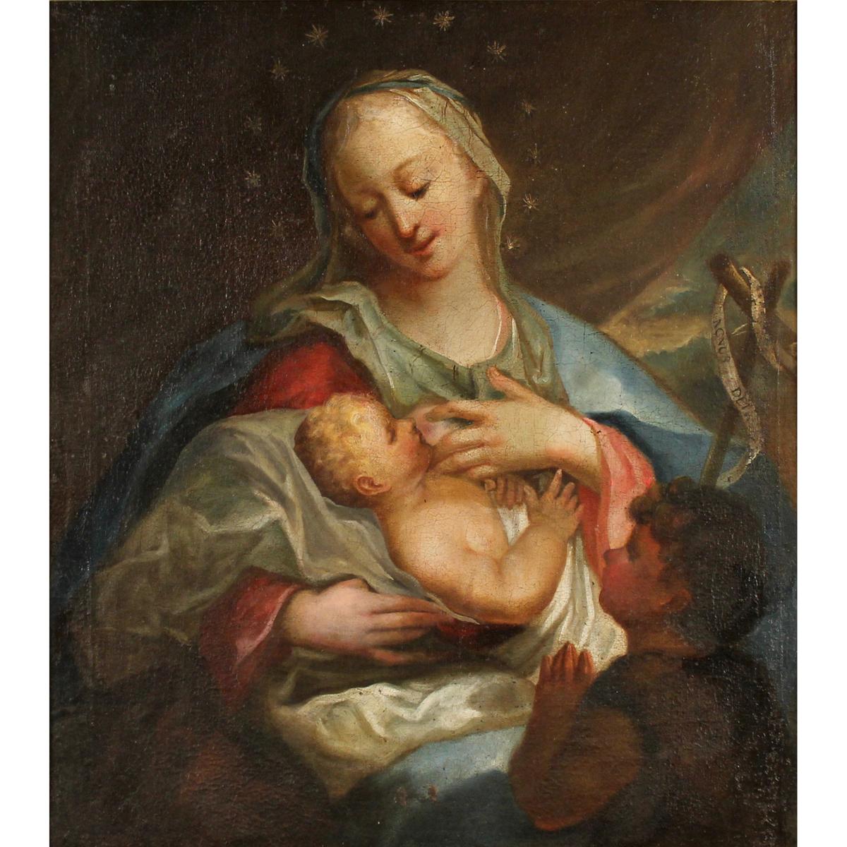 """SCUOLA DEL SUD ITALIA DEL SECOLO XVIII """"La Madonna col Bambino""""-SOUTH ITALY SCHOOL OF THE XVIII CENT"""