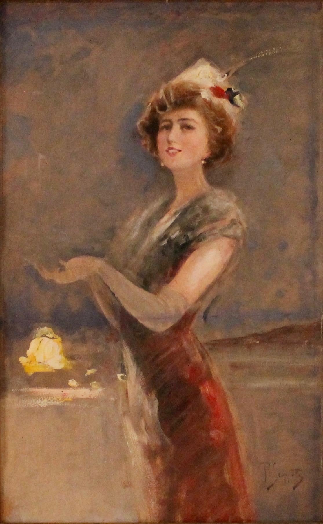 """PIETRO SCOPPETTA (1863/1920) """"Figura di donna""""-""""Figure of a woman"""""""