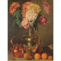 """LEON REDING (1871/?) """"Natura morta"""" - """"Still life"""""""