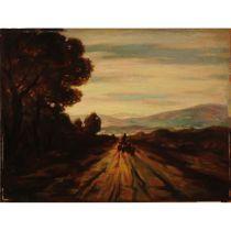 "VINCENZO VINCIGUERRA (1922) ""Paesaggio"" - ""Landscape"""