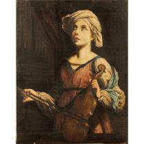 """SCUOLA ITALIANA DEL SECOLO XIX """"Violinista"""" - 19th CENTURY ITALIAN SCHOOL """"Violinist"""""""
