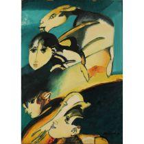 """REMO BRINDISI (1918/1996) """"Volti""""-""""Faces"""""""