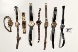 8 mixed ladies watches, untested.